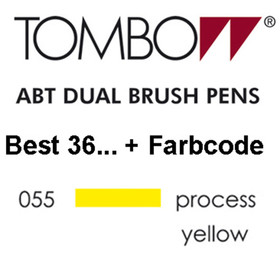 TOMBOW - ABT Dual Brush Pen - Dermatest - Process Yellow