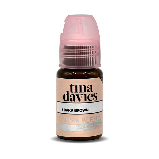 PERMA BLEND - PMU Pigment - Dark Brown - Tina Davies Eyebrow Kit - 15 ml