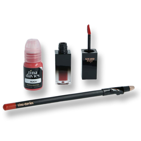 PERMA BLEND - Tina Davies Lust Lip Set - Peach