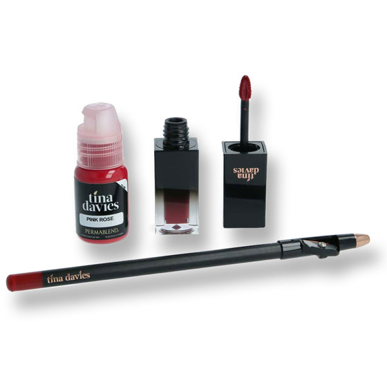PERMA BLEND - Tina Davies Envy Lip Set - Pink Rose