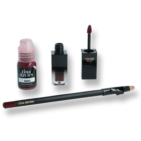 PERMA BLEND - Tina Davies Envy Lip Set - Wine