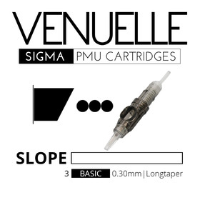 VENUELLE - Sigma PMU Cartridges - 3 Basic Slope Flat 0,30 mm LT